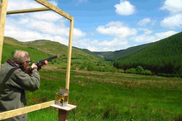 Clay shooting view